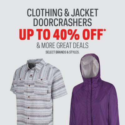 Clothing & Jacket Doorcrashers Up to 40% Off & More Great Deals