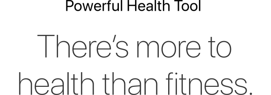 There's more to health than fitness
