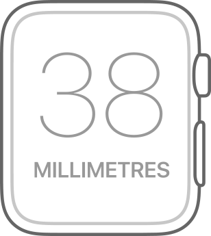 Apple Watch Series 1 38mm Watch Face Line Drawing