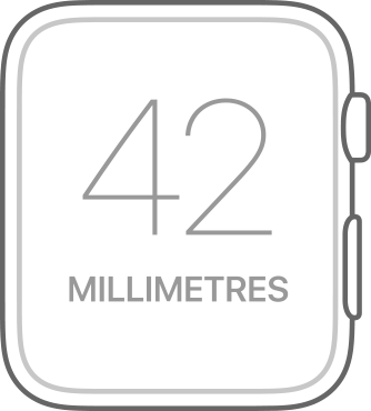 Apple Watch Series 1 42mm Watch Face Line Drawing