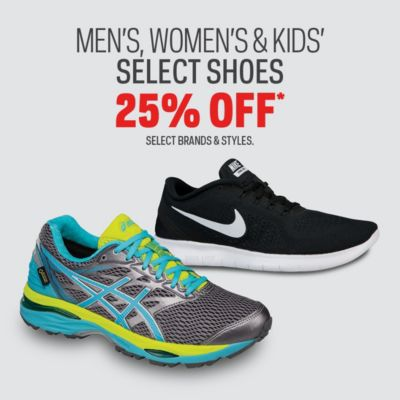 Select Shoes 25% Off