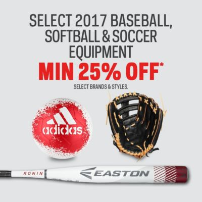 Select 2017 Baseball & Softball Bats & Gloves Min 25% Off