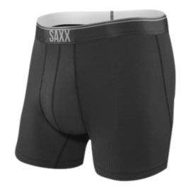 SAXX Men's Quest 2.0 Boxer Briefs With Fly - Black