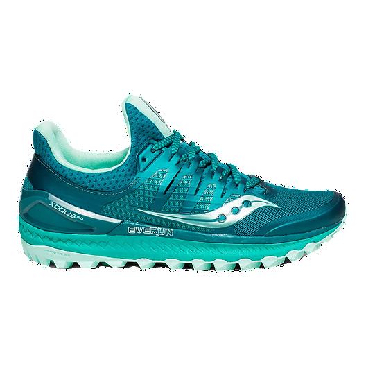 eb569d4e Saucony Women's Everun Xodus ISO 3 Trail Running Shoes - Green/Aqua
