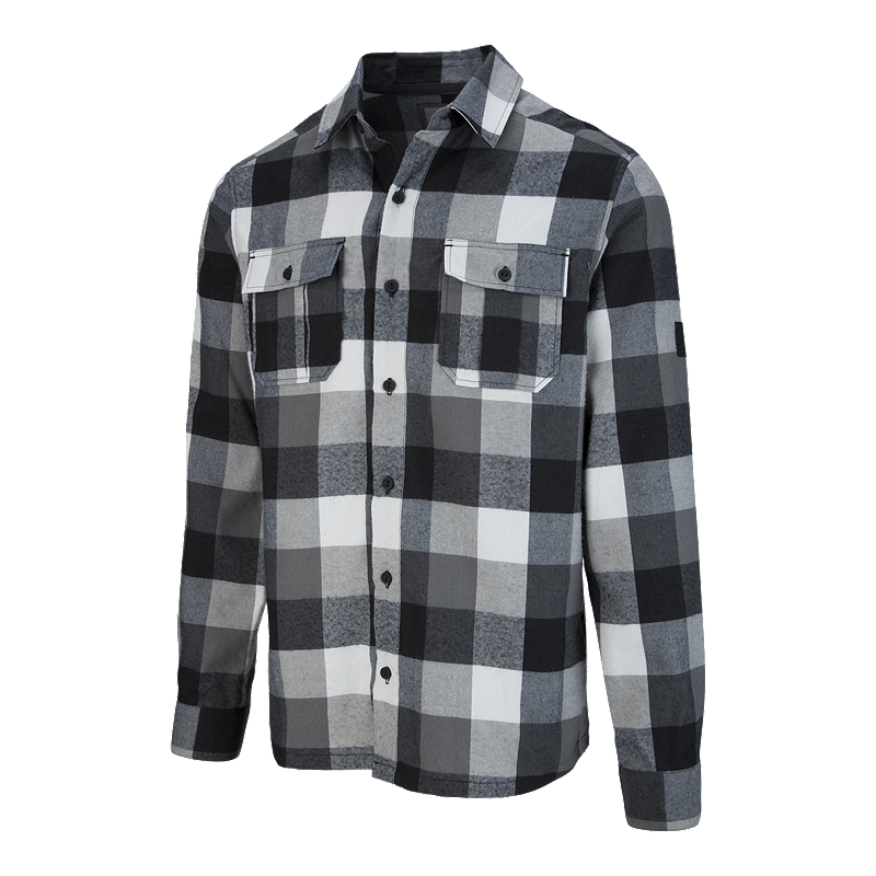 McKINLEY Men s Serra Flannel Long Sleeve Shirt - Asphalt  39b0e276006