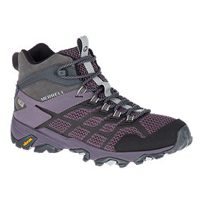Merrell Women's Moab FST 2 Mid WP Hiking Shoes - Granite/Shark
