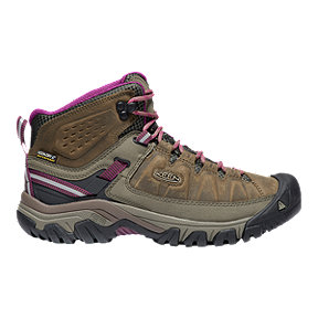 Keen Women's Targhee III Mid Waterproof Hiking Boots - Weiss/Boysenberry