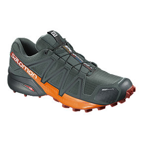 Salomon Men's Speedcross 4 CS Trail Running Shoes - Grey/Red/Orange