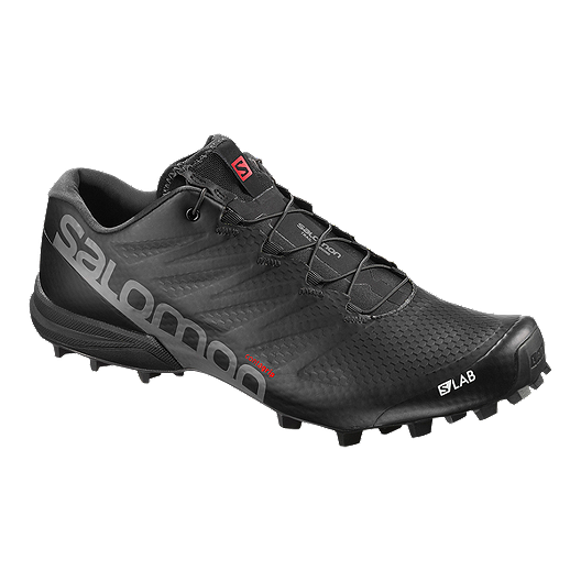 9a5ee4f42614 Salomon Men s S Lab Speed 2 Trail Running Shoes - Black Red White ...
