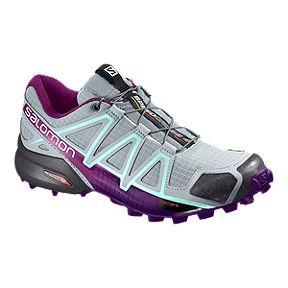 the latest 93ae4 c70bb Salomon Women s Speedcross 4 Trail Running Shoes - Quarry Acai Fair Aqua