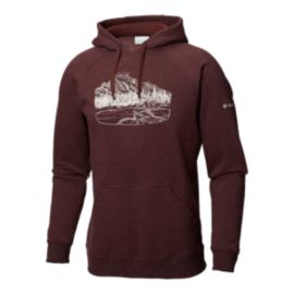 Columbia Men's Hart Mountain Graphic Hoodie - Red
