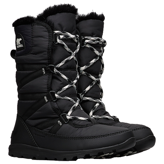 finest fabrics 60% clearance bright n colour Sorel Women's Whitney Tall Lace II Winter Boots - Black