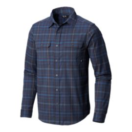 Mountain Hardwear Men's Stretchstone Long Sleeve Flannel Shirt - Zinc