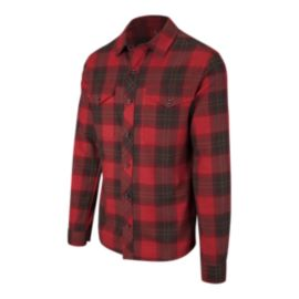 Woods Men's Matheson Flannel Long Sleeve Shirt -Pompanian Red