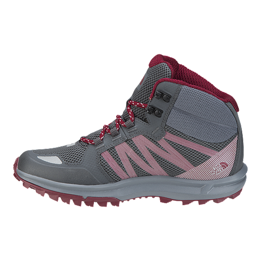the best attitude 6a74f a9f01 The North Face Women's Litewave Fastpack Mid Hiking Boots - Grey/Red