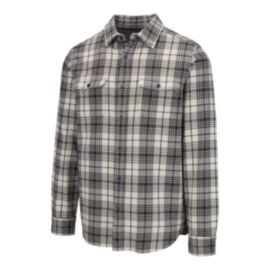 The North Face Men's Long Sleeve Arroyo Flannel Shirt - Vintage White