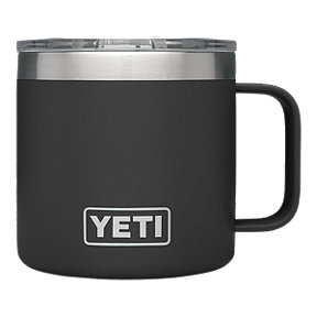 YETI Rambler 14 oz Mug with Lid - Black