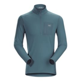 Arc'teryx Men's Rho LT Zip Neck Top - Neptune