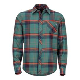 Marmot Men's Anderson Flannel Long Sleeve Shirt - Green