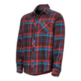 Marmot Men's Anderson Flannel Long Sleeve Shirt - Red
