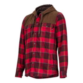 Marmot Men's Silos Flannel Long Sleeve Shirt - Burgundy