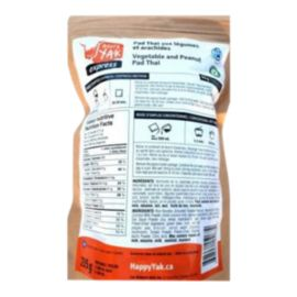 Happy Yak Pad Thai Peanuts and Vegetables Dehydrated Food Package
