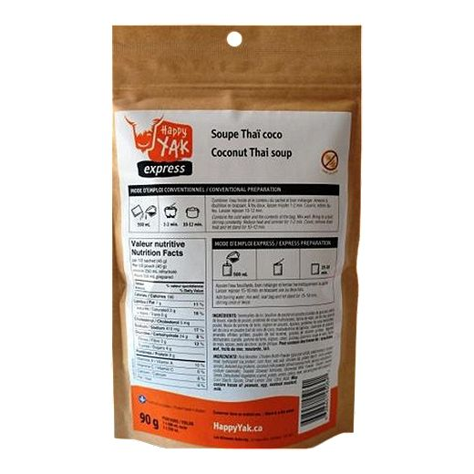 Happy Yak Coconut Thai Soup Dehydrated Food Package
