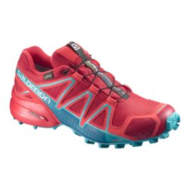 Salomon Women's Speedcross 4 GTX Trail Running Shoes - Barbados/Pop