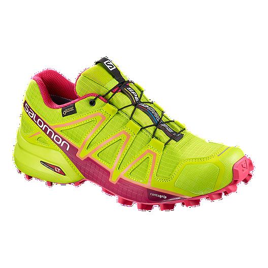 e1a117da4b9 Salomon Women s Speedcross 4 GTX Trail Running Shoes - Lime Green ...