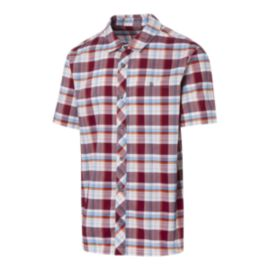 Woods Men's Aylmer Plaid Short Sleeve Shirt - Rhubarb