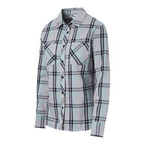 f32602da Woods Women's Dawson Plaid Long Sleeve Shirt - Spruce