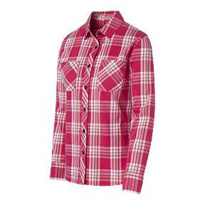 3f186705 Woods Women's Dawson Plaid Long Sleeve Shirt - Rose