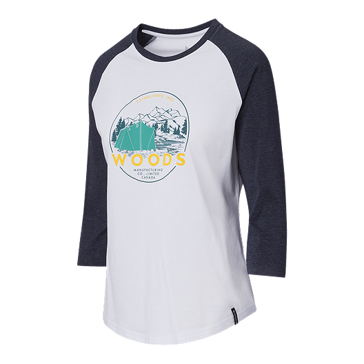 Woods Women S Hector Crew Baseball Shirt Total Eclipse Atmosphere Ca