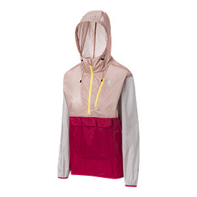 Woods Women's Stanley Anorak Jacket - Rose Smoke/Rose Red