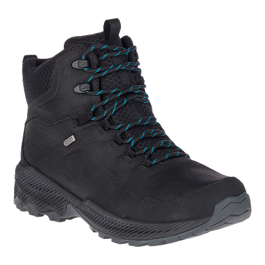 2b94715832d Merrell Men's Forestbound Mid Waterproof Hiking Boots - Black