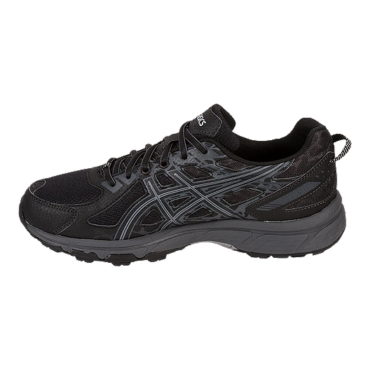 a7cd0f876e ASICS Men's Venture 6 Trail Running Shoes - Black/Grey