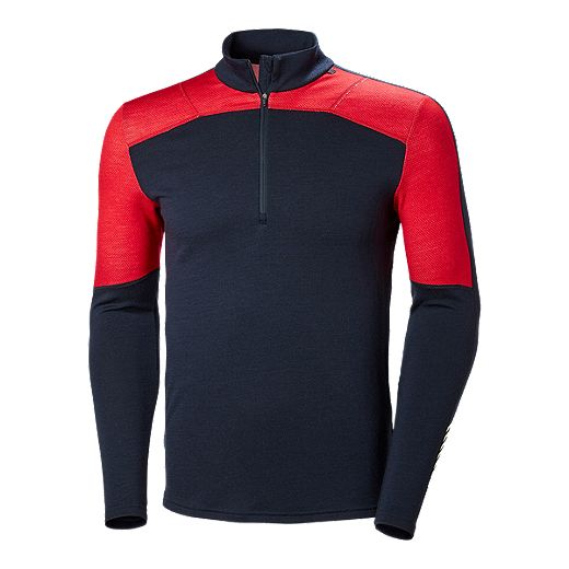Helly Hansen Men's Lifa Merino Half Zip - Navy