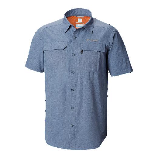 e03b7f39c71 Columbia Men's Titanium Irico Short Sleeve Shirt - MOUNTAIN HEATHER, DESERT  SUN