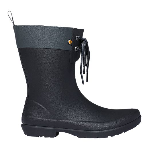 Bogs Women's Flora 2 Eye Rain Boots - Black