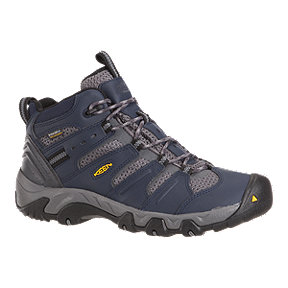 Keen Men's Koven Mid Waterproof Hiking Boots - Blue/Grey
