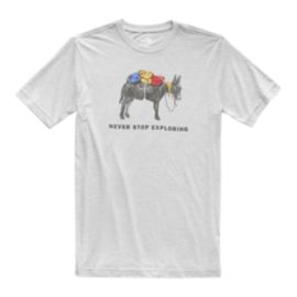 The North Face Men's Pony Wheels Tri-Blend T Shirt - Light Grey