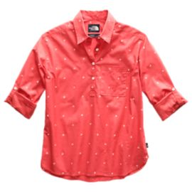 The North Face Women's Bayward Long Sleeve Shirt - Spiced Coral Outdoor