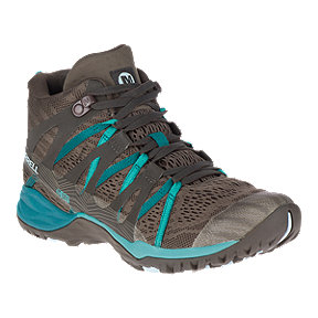 Merrell Women's Siren Hex Q2 E-Mesh Waterproof Mid Hiking Shoes - Boulder