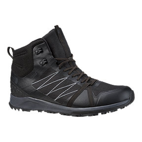 The North Face Men's Litewave Fastpack II Mid Waterproof Hiking Boots - TNF Black/Ebony Grey