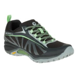 Merrell Women's Siren Edge Waterproof Hiking Shoe - Black/Paradise Green