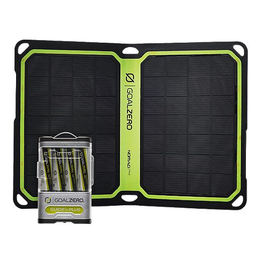 Goal Zero Guide 10 Plus Nomad 7 Solar Panel Kit