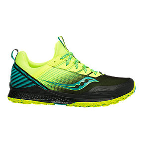 Saucony Everun Mad River TR Trail Running Shoes - Green/Black