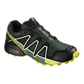 0f0a0e0faeae8 Salomon Men s Speedcross 4 GTX Trail Running Shoes - Green Black Yellow