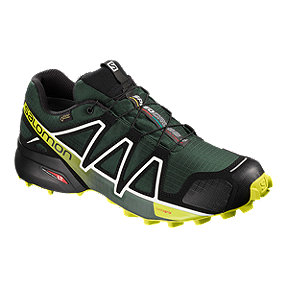 Salomon Men's Speedcross 4 GTX Trail Running Shoes - Green/Black/Yellow