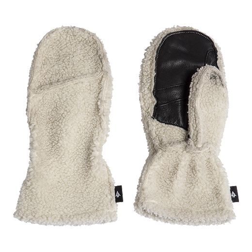 Woods Women's Strickland Sherpa Mitts - Whisper White